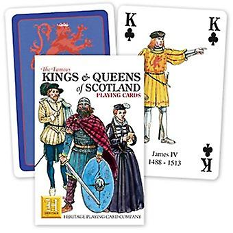 Kings & koninginnen van Schotland Set van 52 speelkaarten (+ Jokers)