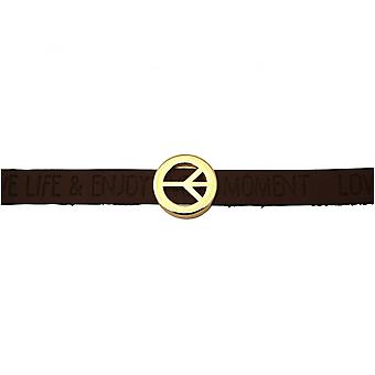 Women - bracelet - harmony - peace - WISHES - Brown dark - magnetic closure
