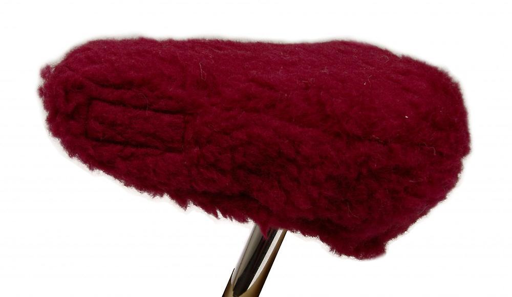 Fahrradsattelbezug Wolle bordeaux 20/30 cm