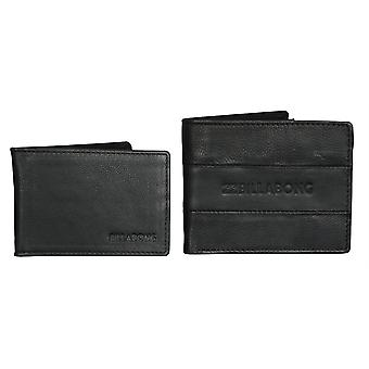 2 Billabong Leather Wallets With RFID protection ~ Tribong black