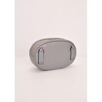 Chevron-Muster gesteppt Golddetails Bum Bag Grey