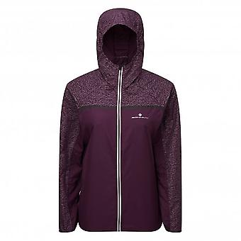 Momentum Afterlight Womens WATER RESISTANT & HI VIS Running Jacket Aubergine/Blossom