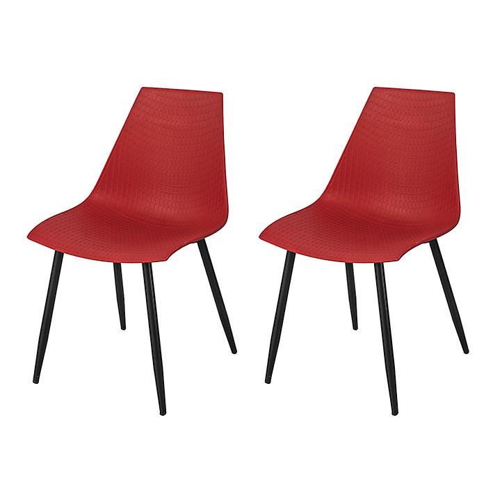 rx2 À Lot De Salon Fst60 Salle Rouge 2 Manger Chaises Cuisine Bureau Sobuy N8wvn0m
