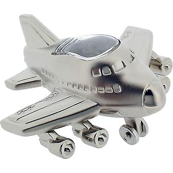 Gift Time Products Jumbo Jet Style Miniature Clock - Silver