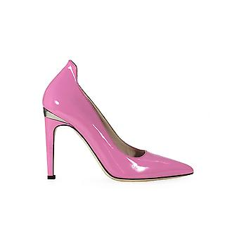 PINKO PINK PATENT LEATHER NADIR PUMP
