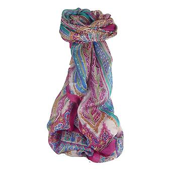 Mulberry Silk Traditional Long Scarf Johal Cerise by Pashmina & Silk