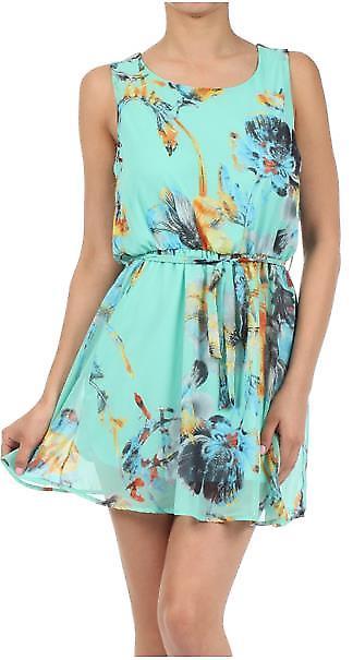 Waooh - Mode - Robe courte motif fleur
