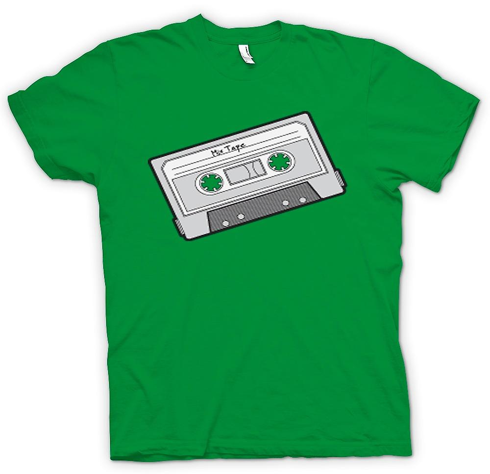 Mens T-shirt-Oldschool-Kassette