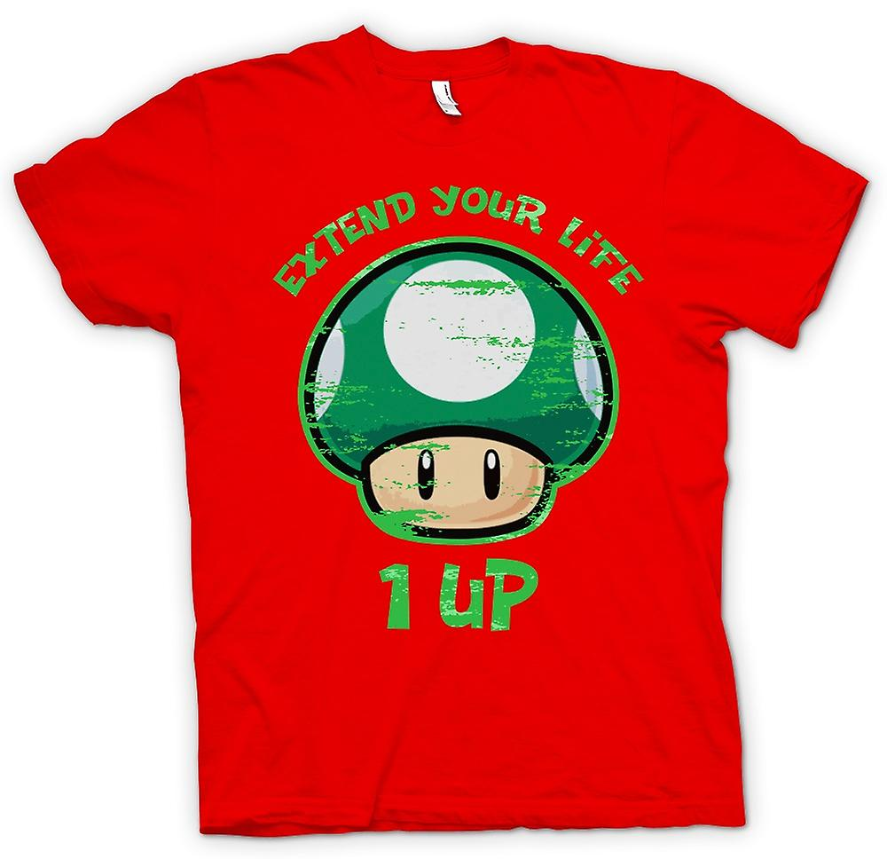 Herr T-shirt - Super Mario - förlänga ditt liv