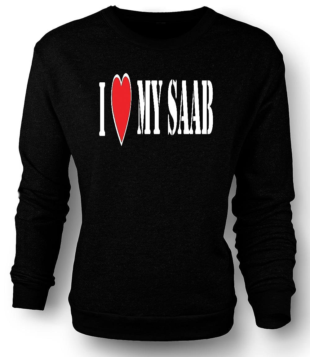 Mens Sweatshirt j'ai LoveMy Saab - voitures Fun