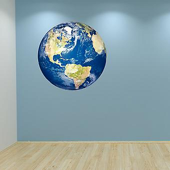 Full Colour Planet Earth Wall Sticker