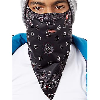 Airhole Black-Paisley Standard 2-Layer Snowboarding Facemask
