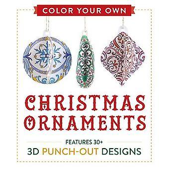 Färg egna juldekorationer - funktioner 50 3D Punch-Out mönster