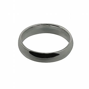 Platinum 5mm plain Court shaped Wedding Ring Size Z
