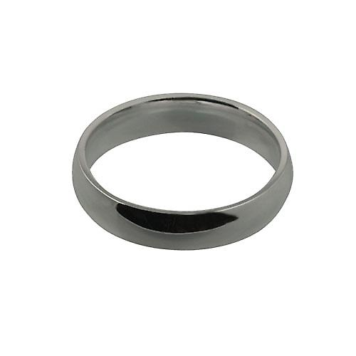 Platinum 5mm plain Court shaped Wedding Ring Size Y