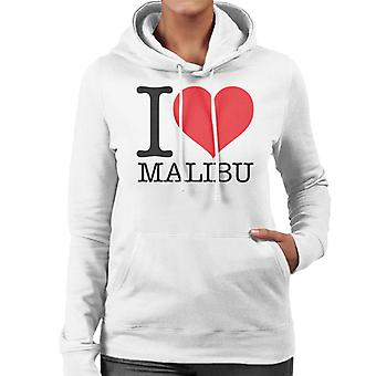 I Love Malibu Women's Hooded Sweatshirt