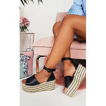 IKRUSH Womens Carrie Flatform Wedged Sandals