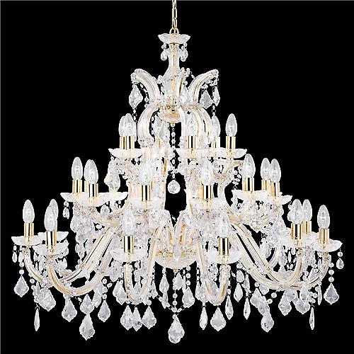 Searchlight 1214-30 Marie Therese Modern Chrome Classical Crystal Chandelier