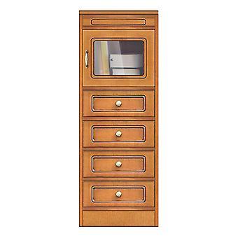 Collezione �Compos� � Modulo 4 cassetti e anta in vetro