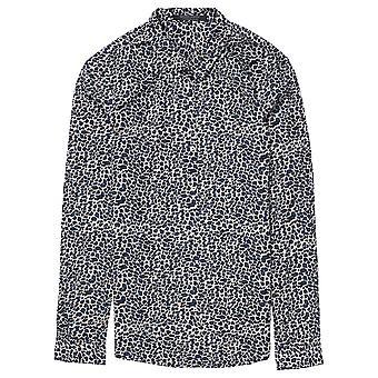 Maison Scotch Animal Print Long Sleeve Shirt