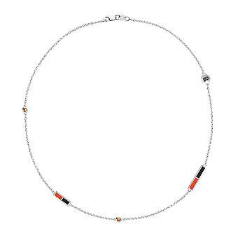 Philadelphia Flyers Flyers Logo Engraved Light Citrine 5-Station Necklace In Orange And Black