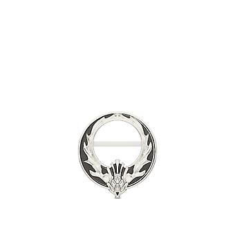 Outlander Thistle Circle Pin In Sterling Silver