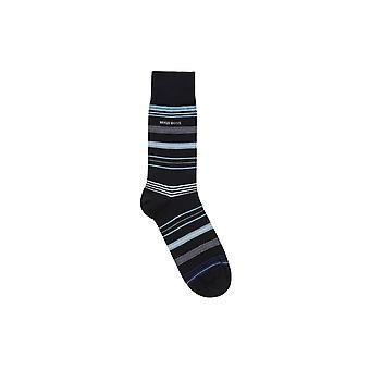 BOSS schoeisel & accessoires Hugo Boss RS multi Stripe MC sokken donkerblauw