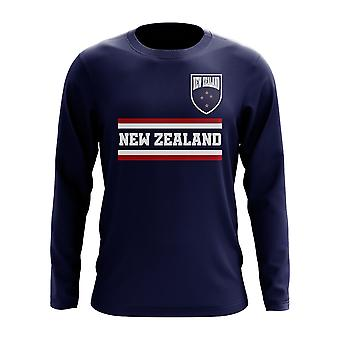 Neuseeland Core Football Country Langarm T-Shirt (Navy)