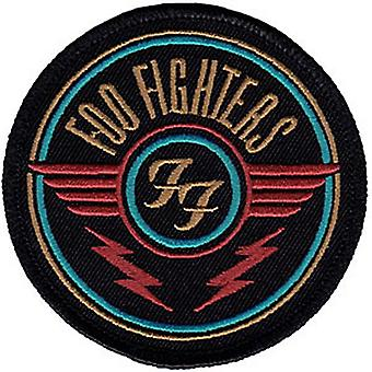 Foo Fighters round iron-on /  sew-on embroidered patch  (cv)