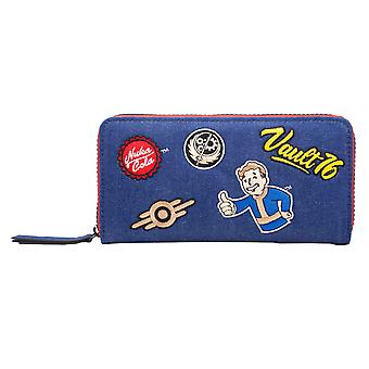 Fallout 76 Purse Vault 76 Logo Patches Nuka Cola new Official Blue Zip Around