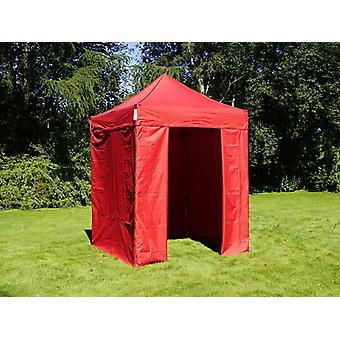 Vouwtent/Easy up tent FleXtents Easy up pavillon Basic v.2, 2x2m Rood, inkl. 4 Zijwanden