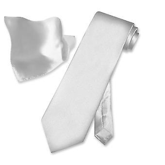 Biagio 100% SILK Solid NeckTie Handkerchief Men's Neck Tie Set