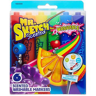 Mr.Sketch Scented Washable Marker Set 6/Pkg-Chisel 1924009