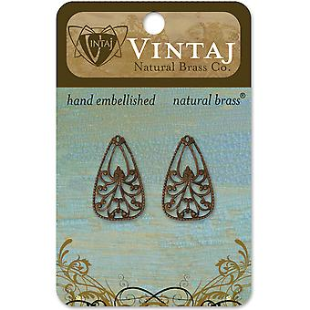 Vintaj Metal Accents 2 Pkg Emblazonry 25X16mm Dp0027r