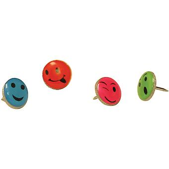 Push Pins Carded Smiley 16 Pkg 29830