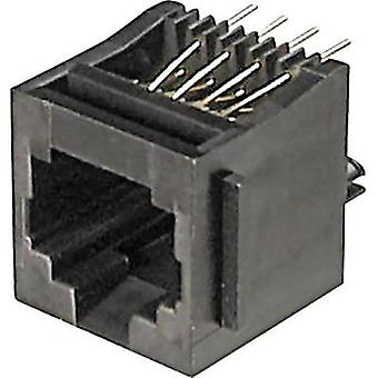 ASSMANN WSW A-20142 Mounted Modular Socket 8 RJ45 Socket, vertical vertical Black