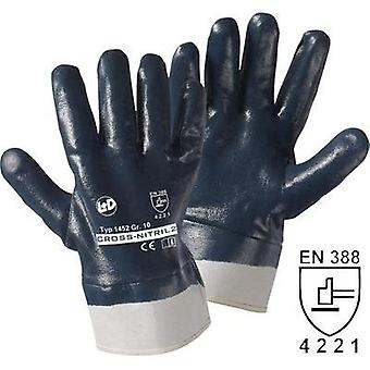 Leipold + Döhle 1452 Cross Nitrile gloves Nitrile rubber, completely coated Size 10