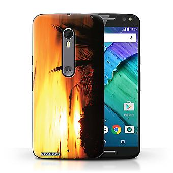 STUFF4 Case/Cover for Motorola Moto X Style/Tree Tops/Sunset Scenery