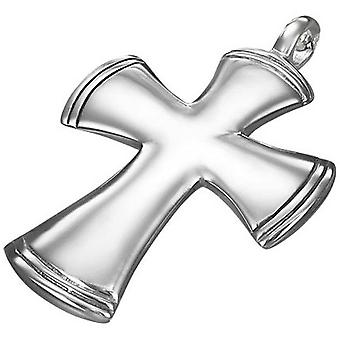 Urban Male Stainless Steel Chunky Cross Pendant