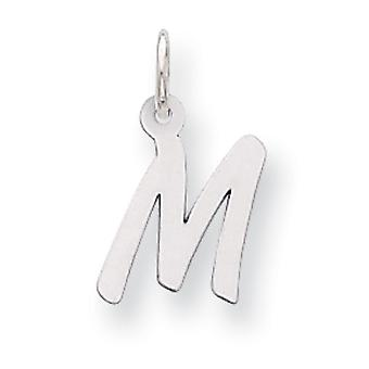 Sterling Silver Small Initial M Charm