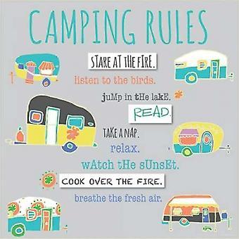 Camping regler affisch Skriv av Pamela J Wingard