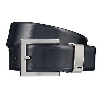 ALBERTO new classic buckle belts men's belts leather belt Navy/Blue 3994