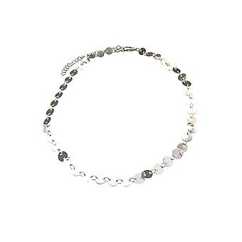 Chic statement choker necklace silver