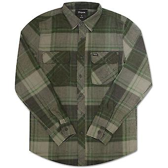 Brixton Bowery Flannel L/S Shirt Forest Green