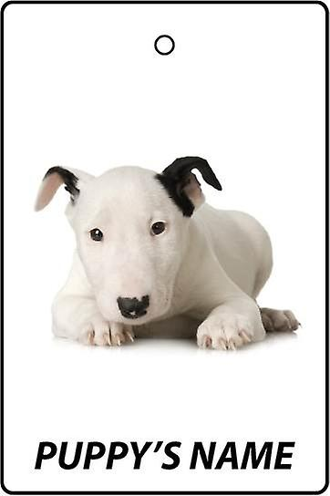 Personalised Bull Terrier Puppy Car Air Freshener