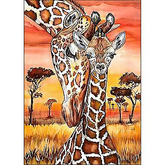 Collection D'Art Diamond Embroidery/Printed/Gem Kit 27X38cm-Giraffes DE4653