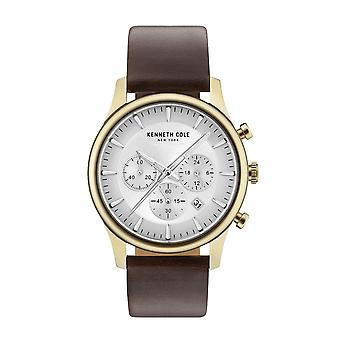 Kenneth Cole New York reloj cuero reloj de pulsera KC15106003