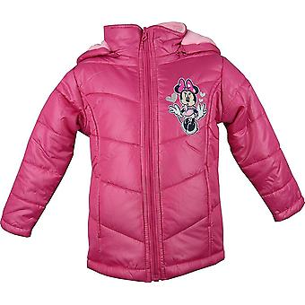 Girls Disney Minnie Mouse Hooded Winter Puffer / Jacket