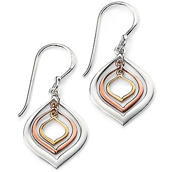 925 Silver Rose Gold Plated And Yellow Gold Earring Trend