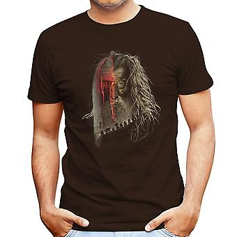 Lord of the Rings Hobbit Gandalf Evil Border Men's T-Shirt